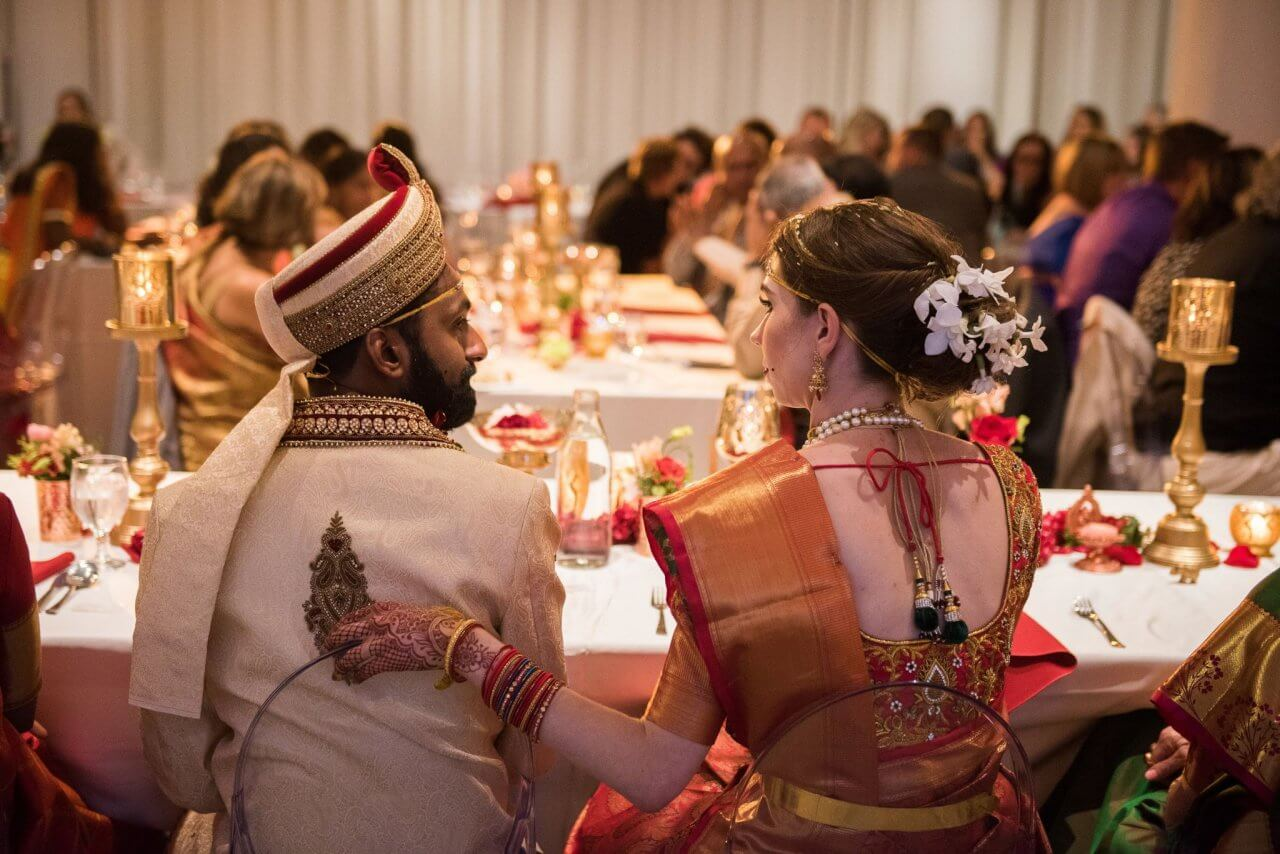 Traditional Wedding Dress At Red And Gold Indian Wedding Chez