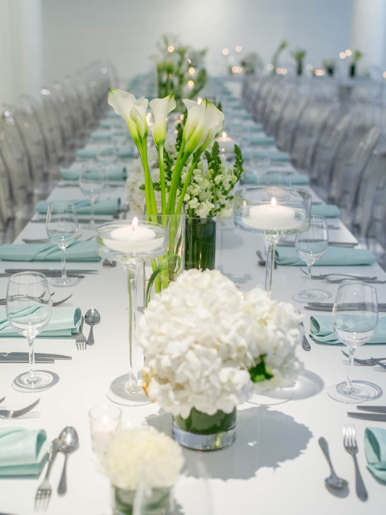 White Bamboo Table