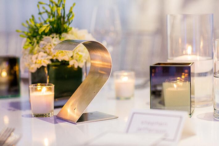 Table Numbers Wedding.Modern Metal Wedding Table Numbers Chez Chicago Wedding Venue