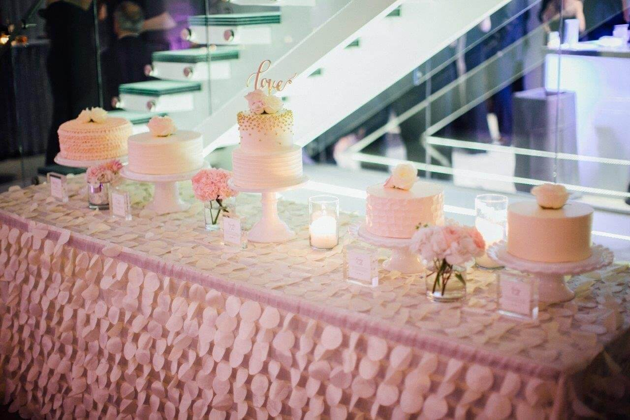 Wedding Cake Table.White Wedding Cake Table Ideas Chez Chicago Wedding Venue