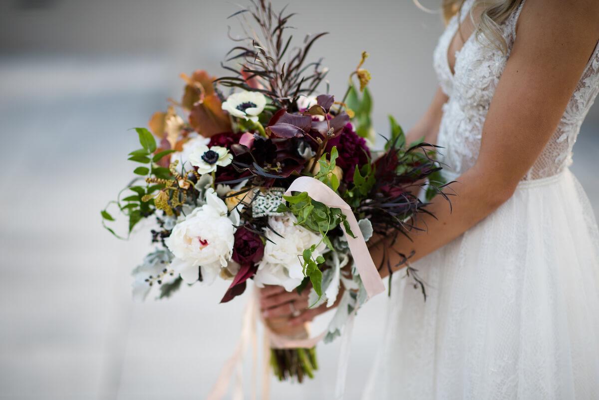 Winter Bouquet At Rustic Wedding Chez Wedding Venue