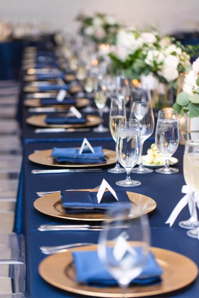 Navy And Gold Wedding Table Ideas Chez Wedding Venue