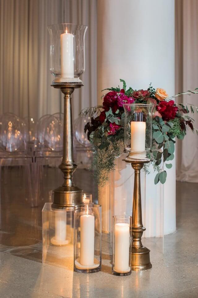 Wedding Aisle Candles Chez Wedding Venue